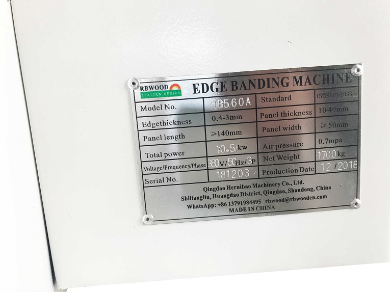 RB 560A-6 function automatic edge bander - Edge banding